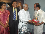 K Balachander,Rajinikanth at Kuselan audio launch